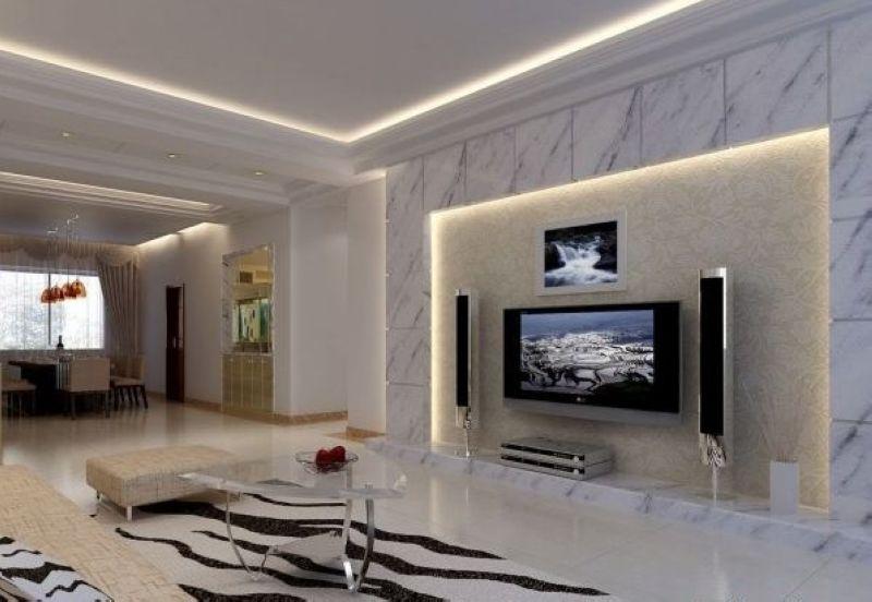 一居客厅背景墙简约装修效果图 互联网装修 家装 家居平台 未来家装网