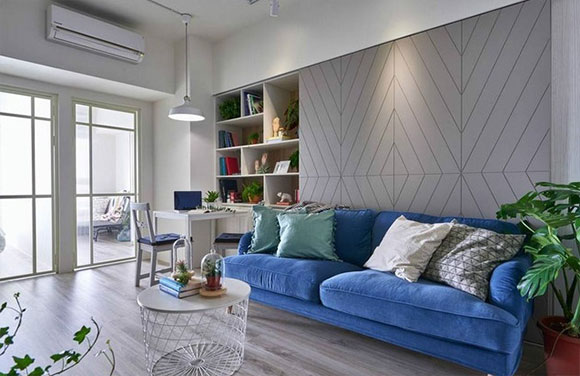 紧凑的小两房装修简洁大方,收纳空间真强大,全屋很实用!