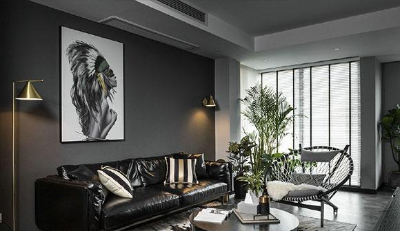 暗黑色为主的家居空间,效果超酷个性十足,借鉴需慎重!