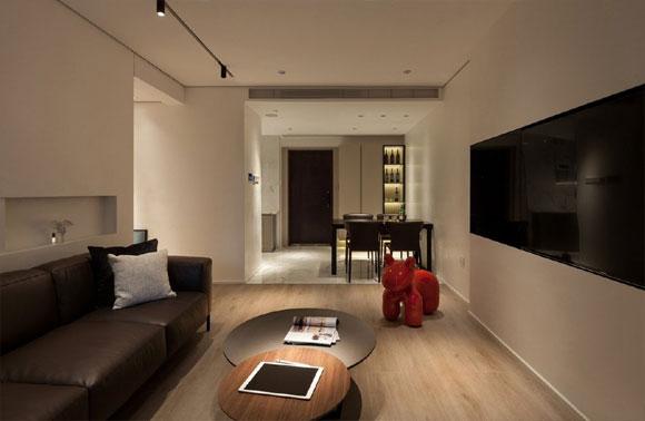 墙面刷白平面吊顶,配日式榻榻米茶室,很有趣味性的简约风格装修!