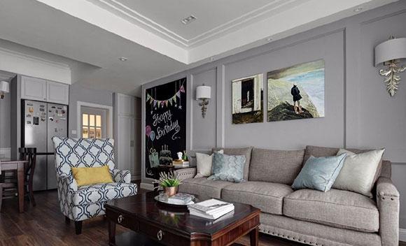 简约美式风格装修,幸福感满满的小户型空间,淳朴亲切很温馨!