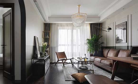 美式风格三房装修,装饰条、墙裙营造出复古的年代感,令人痴迷!