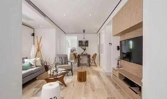 漂亮的简约风格装修,简洁大方很耐看,定制满屋的柜子超实用!