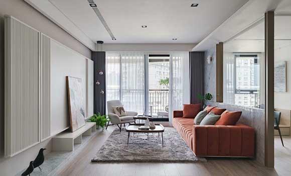玻璃墙隔出书房,开放式空间设计特别显档次,全屋大气极了!