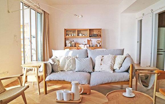 暖暖的日式风格复式装修,空间明亮家居氛围温馨,舒服极了!