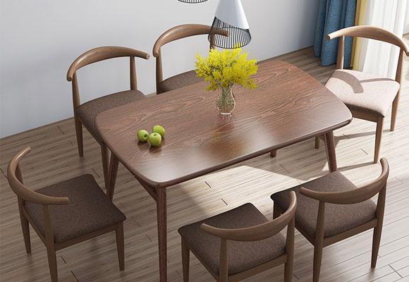 全享经济型长方形北欧风餐桌餐椅组合/咖啡桌
