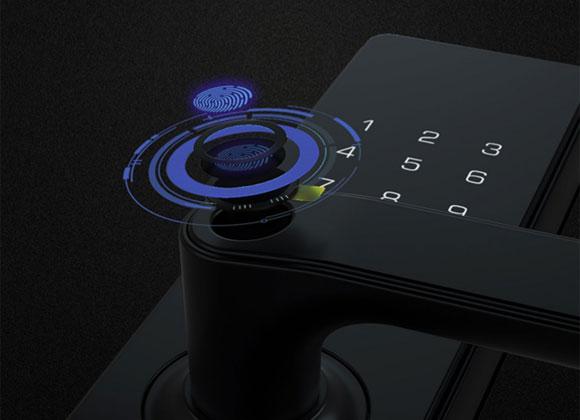 小益E206T天猫精灵智能指纹锁密码锁NFC电子门锁